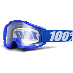 100% Accuri OTG Anti Fog Clear Lunettes de protection, reflex blue